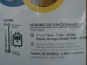 Lavra Tram Schedule