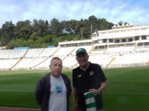 At the National Stadium