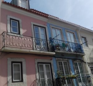 holiday rentals on a typical street